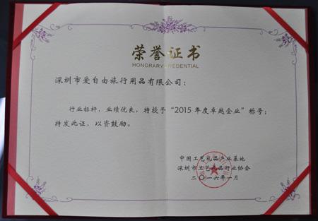 2015年度卓越企业奖