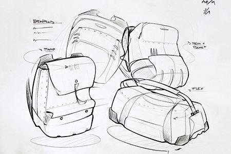 箱包设计手绘效果图